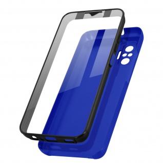 Schutzhülle für Xiaomi Redmi Note 10 / Note 10s, Vorder- + Rückseite ? Blau
