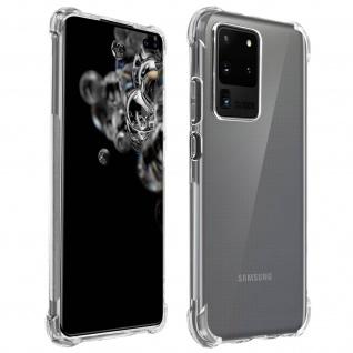 Akashi Samsung Galaxy S20 Ultra Silikon Bumper Hülle, stoßfest - Transparent