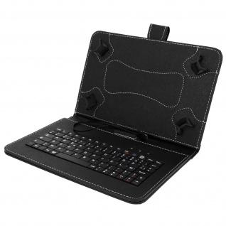 Flip-Schutzhülle AZERTY Tastatur für 10'' Tablets - Schwarz - Standfunktion