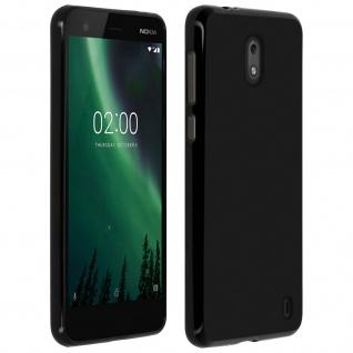 Gelhülle, flexibles Backcover für Nokia 2, matte case - Schwarz