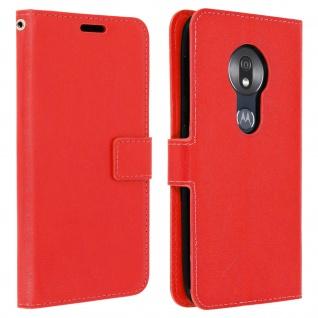 Flip Stand Cover Brieftasche & Standfunktion für Motorola Moto G7 Play - Rot