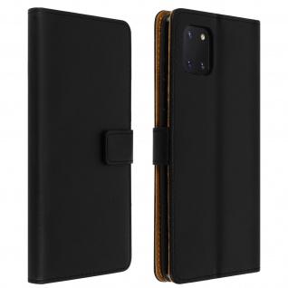 Samsung Galaxy Note 10 Lite Cover aus Kunstleder mit Standfunktion � Schwarz