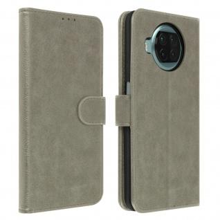 Flip Cover Geldbörse, Klappetui Kunstleder für Xiaomi Mi 10T Lite ? Grau