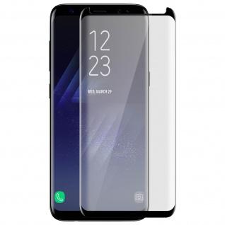 Voll-Bildschirmschutz Rand Schwarz, Full Cover für Samsung Galaxy S8
