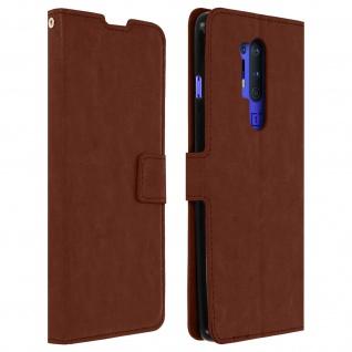 Flip Stand Case Brieftasche & Standfunktion für OnePlus 8 Pro - Braun
