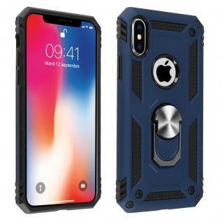 Hybrid Handyhülle mit Ring Halterung für Apple iPhone X, iPhone XS ? Dunkelblau