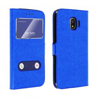 Flip Cover Doppelfenster & Standfunktion Samsung Galaxy Grand Prime Pro - Blau