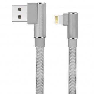 Ladekabel iPhone/iPad/ USB 3A abgewinkeltes Kabel Aufladen & Sync 1.2m LinQ Grau