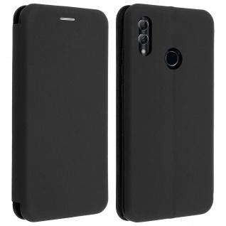 Soft Touch Cover Huawei P Smart 2019, Kartenfach und Standfunktion - Schwarz