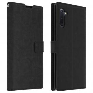 Flip Cover Stand Case Brieftasche & Standfunktion für Galaxy Note 10 - Schwarz