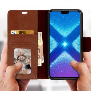 Flip Stand Cover Brieftasche & Standfunktion Huawei Honor 8X - Braun - Vorschau 3