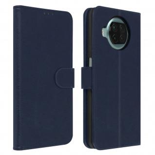 Flip Cover Geldbörse, Klappetui Kunstleder für Xiaomi Mi 10T Lite ? Blau