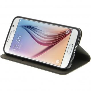 Samsung Galaxy S6 Flip-Cover Brieftaschenstil Kartenfach - Denim Braun - Vorschau 4