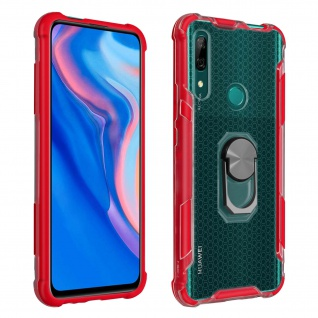 Hybrid Handyhülle mit Ring Huawei P Smart Z/Y9 Prime 2019, Honor 9X - Rot