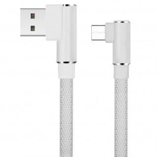USB Typ-C /USB 3A abgewinkeltes Kabel Aufladen & Synchronisation 1.2m LinQ Weiß