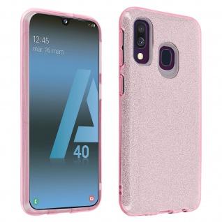 Schutzhülle, Glitter Case für Samsung Galaxy A40, shiny & girly Hülle - Rosa