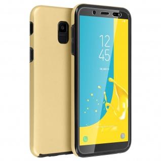 Schutzhülle für Samsung Galaxy J6, Vorder- + Rückseite ? Gold