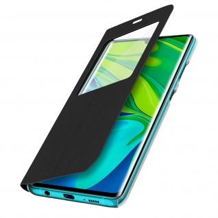 Klapphülle mit Sichtfenster für Xiaomi Mi Note 10 Lite ? Schwarz - Vorschau 2
