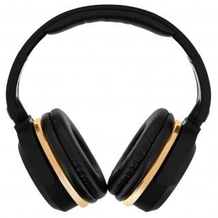 Bluetooth Audio Headset mit Freisprechfunktion, BT1612 - Schwarz / Gold