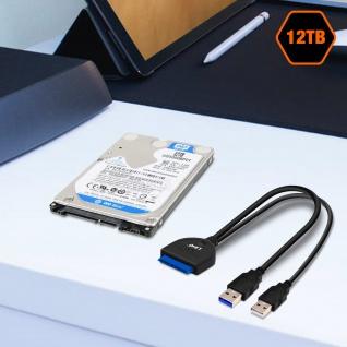 2x USB-Stecker / SATA Konverter Adapter für 2.5 Zoll Festplatte, LinQ ? Schwarz - Vorschau 5
