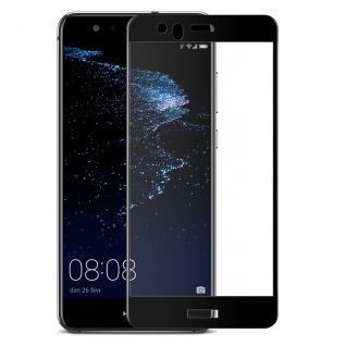 Huawei P10 Lite Glas Displayschutzfolie abgerundete Ecken - 4Smarts - Schwarz