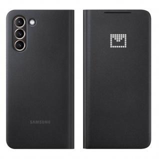 Original Samsung LED-View Cover + Kartenfach für Galaxy S21 â€? Schwarz