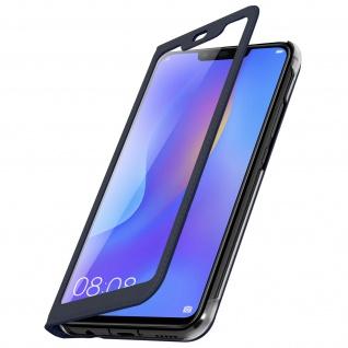Flip Cover mit Smart View Sichtfenster für Huawei P Smart Plus - Dunkelblau - Vorschau 2
