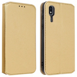 Kunstleder Cover Classic Edition Samsung Galaxy A2 Core - Gold