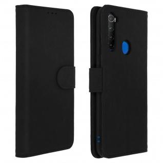 Flip Cover Geldbörse, Klappetui Kunstleder für Xiaomi Redmi Note 8T ? Schwarz