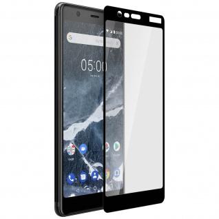 9H kratzfeste Glas-Displayschutzfolie für Nokia 5.1 - Schwarz