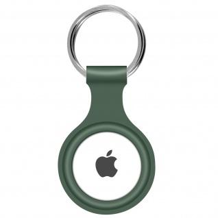 AirTag ultradünner Schlüsselanhänger aus Silikon, mit Metallring ? Khakigrün