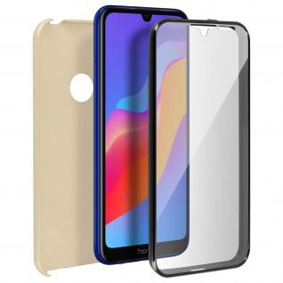 Schutzhülle für Huawei Y6 2019, Vorder- + Rückseite ? Gold