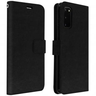 Flip Cover Stand Case Brieftasche & Standfunktion Samsung Galaxy S20 - Schwarz