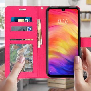 Flip Stand Cover Brieftasche & Standfunktion für Xiaomi Redmi Note 7 - Rosa - Vorschau 3