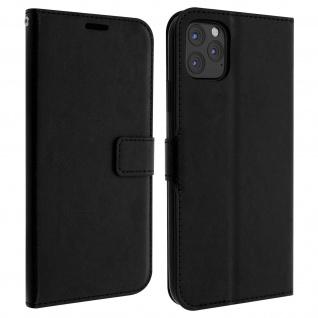 Flip Cover Stand Case Brieftasche & Standfunktion iPhone 11 Pro Max - Schwarz