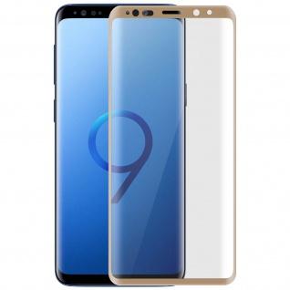 5D Full Cover Displayschutzfolie aus Glas für Samsung Galaxy S9 Plus - Rand Gold
