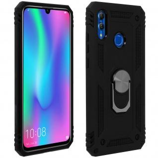 Hybrid Hülle mit Ring Halterung für Huawei P Smart 2019, Honor 10 Lite - Schwarz
