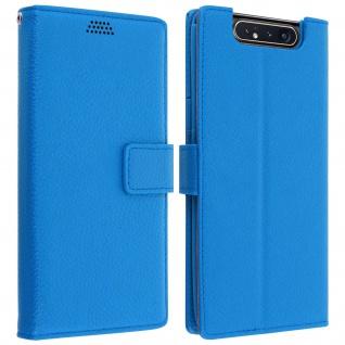 Samsung Galaxy A80 Flip-Cover mit Kartenfächern & Standfunktion - Blau