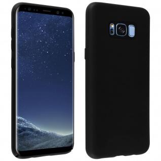 Halbsteife Silikon Handyhülle Samsung Galaxy S8 Plus, Soft Touch - Schwarz
