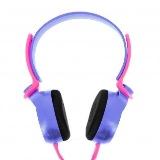 Audio Headset mit 3.5mm Klinkenstecker, EP17 Kopfhörer - Violett / Rosa
