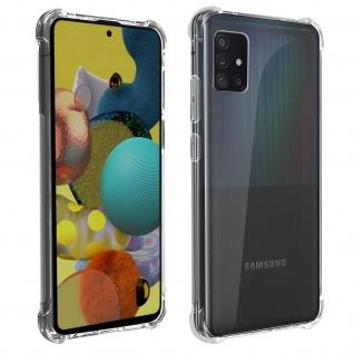 Akashi Samsung Galaxy A51 5G Silikon Bumper Hülle, stoßfest - Transparent