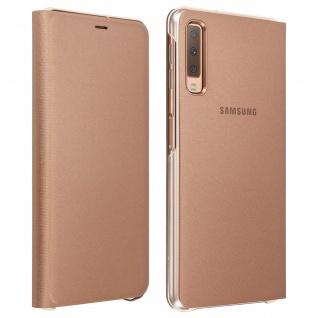 Samsung Wallet Cover für Samsung Galaxy A7 2018, Original Schutzhülle - Gold