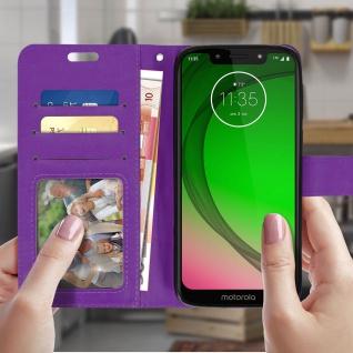 Flip Stand Cover Brieftasche & Standfunktion für Motorola Moto G7 Play - Violett - Vorschau 3