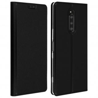 Klappetui mit Kartenfach & Standfunktion Sony Xperia 1 Schwarz