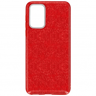 Schutzhülle, Glitter Case für Samsung Galaxy A72, shiny & girly Hülle â€? Rot