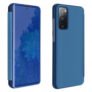 Samsung Galaxy S20 FE View Cover mit Spiegeleffekt & Standfunktion � Blau