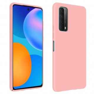 Halbsteife Silikon Handyhülle für Huawei P Smart 2021, Soft Touch - Rosa