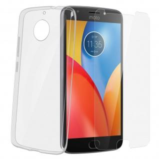 Schutz-Set Motorola Moto E4 Plus: Cover transparent + Glas-Displayschutzfolie