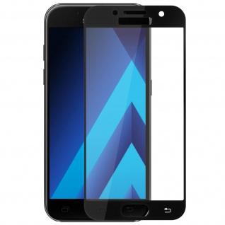 9H Displayschutzfolie aus gehärtetem Glas Samsung Galaxy A3 2017 - Rand Schwarz