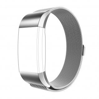 FitBit Charge 2 Milanaise Armband aus Edelstahl mit Magnetverschluss ? Silber